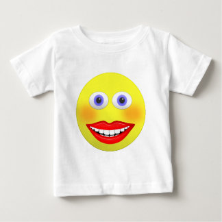 Smiley Female With Big Smile Baby T-shirt