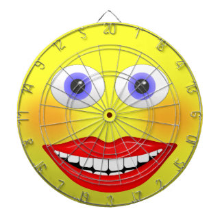 Smiley Female With Big Smiling Mouth Dartboard