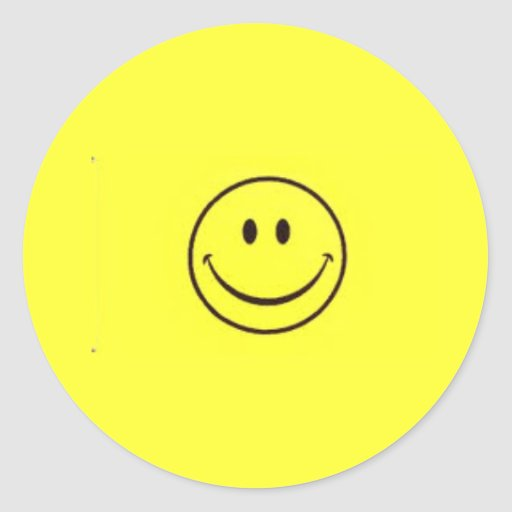 Smiley Fever Round Stickers