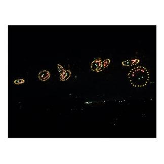 Smiley Fireworks II Postcard