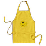 smiley fish 1 adult apron