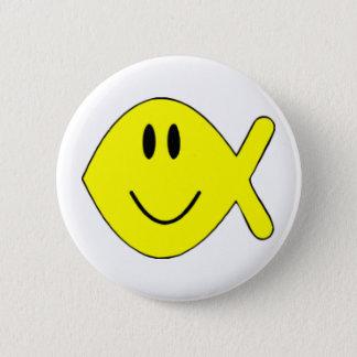 smiley fish 1 pinback button