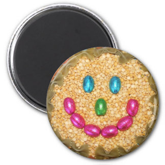 SMILEY FOOD FACE FRIDGE MAGNET