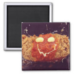 Smiley Food Face Refrigerator Magnets