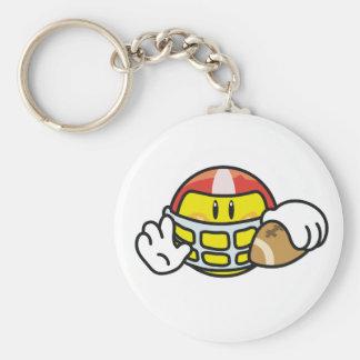 Smiley Football Keychain