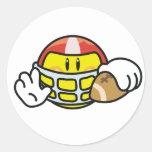 Smiley Football Sticker