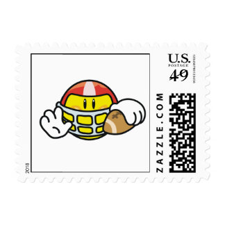 Smiley Football T-shirts and Gifts Postage Stamp