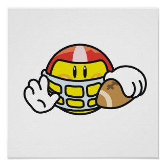 Smiley Football T-shirts and Gifts Poster