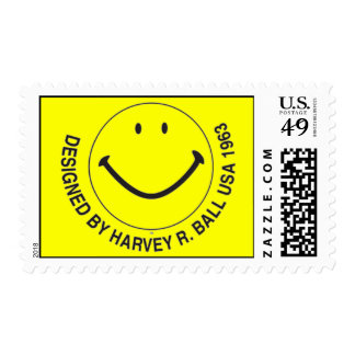 """Smiley Forever"" Postage Stamp"