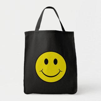 Smiley fresco bolsa tela para la compra
