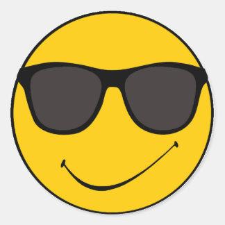 Smiley fresco de Joe Pegatina Redonda