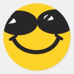Smiley fresco del tipo etiqueta redonda