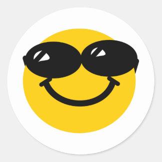 Smiley fresco del tipo pegatina redonda