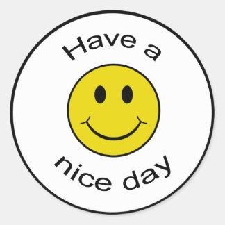Smiley fresco pegatina redonda