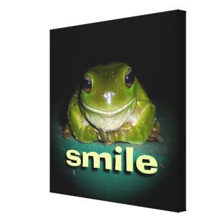 Smiley Frog Canvas Print