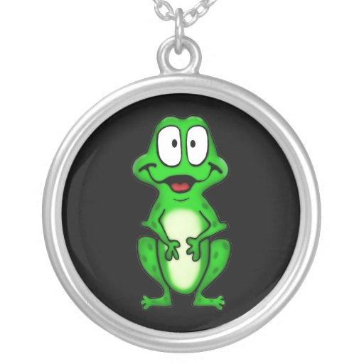 Smiley Frog Necklace