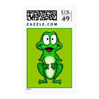 Smiley Frog Postage Stamps