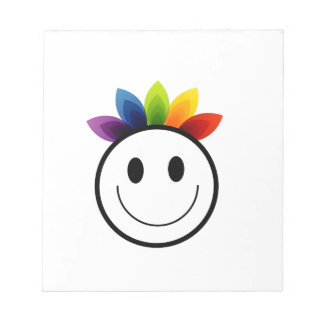 Smiley frondoso bloc de notas