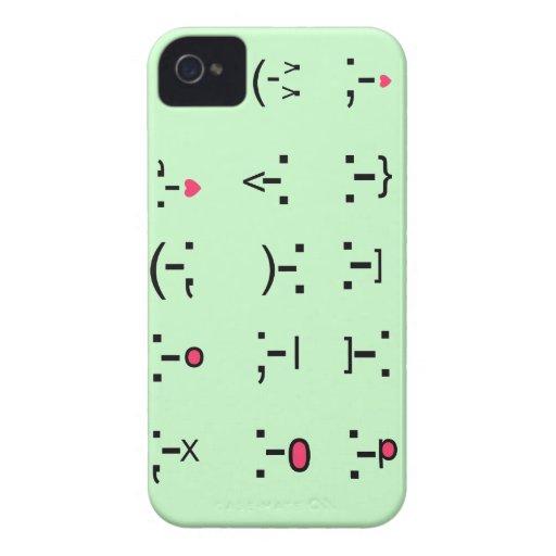 Smiley-Funda de Texting Case-Mate iPhone 4 Carcasa