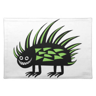 Smiley Funky colourful porcupine f Place Mat