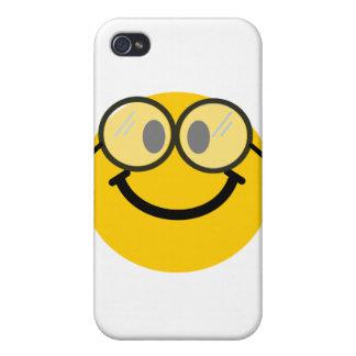 Smiley Geeky iPhone 4 Carcasa