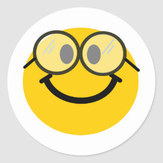 Smiley Geeky Pegatinas