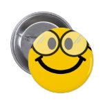 Smiley Geeky Pin Redondo De 2 Pulgadas