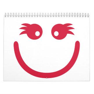 Smiley girl face calendar