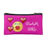Smiley Glam Girl Cosmetic Bag