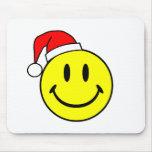 Smiley (gorra de Santa) Alfombrilla De Ratón