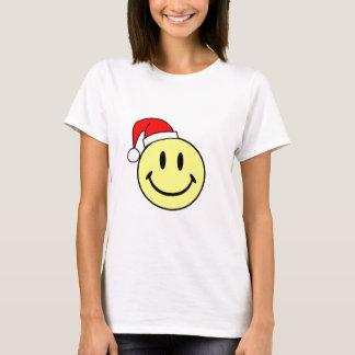Smiley (gorra de Santa) Playera