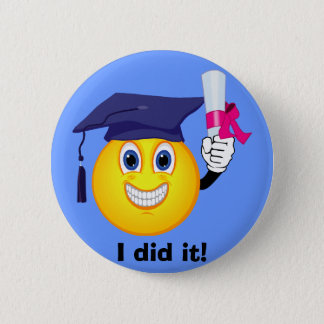 Smiley Graduate Button