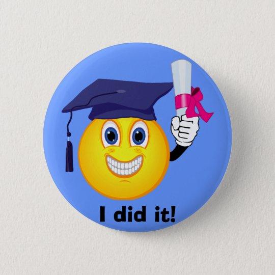 Smiley Graduate Button