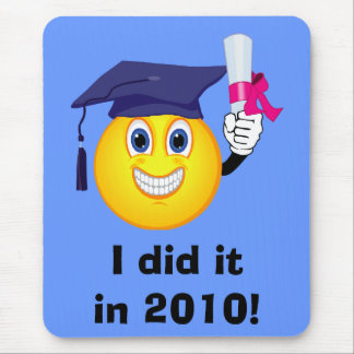 Smiley Graduate Mouse Pad