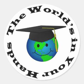 Smiley Graduate Sticker
