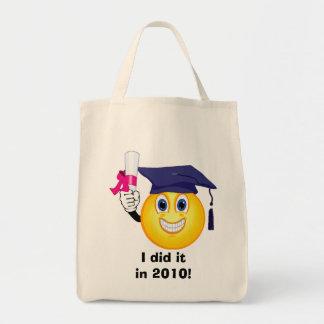 Smiley Graduate Tote Bag