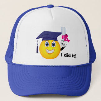 Smiley Graduate Trucker Hat