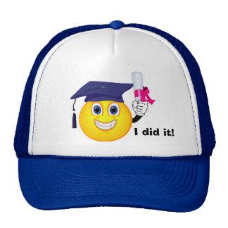 Smiley Graduate Trucker Hat