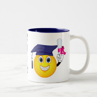 Smiley Graduate Two-Tone Coffee Mug