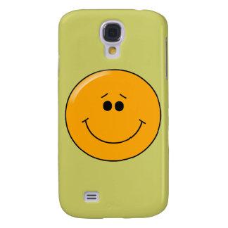 Smiley grande comprensivo anaranjado de la sonrisa funda para galaxy s4