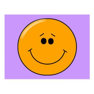 Smiley grande comprensivo anaranjado de la sonrisa postal