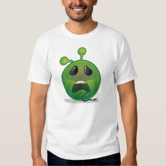 Smiley green alien sickening surprise t shirt