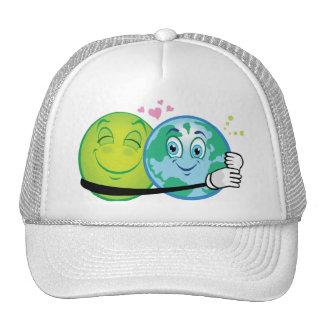 Smiley Green Planet Trucker Hat