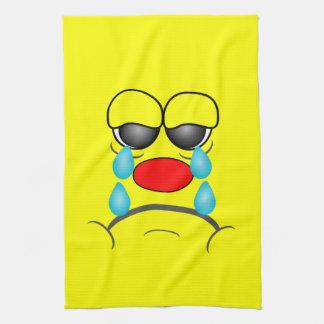 Smiley gritador toalla de mano