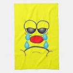 Smiley gritador toallas de mano