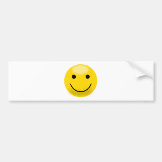 Smiley Happiness Face Car Bumper Sticker