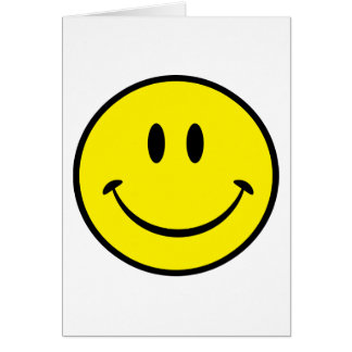 Smiley Happiness Face Card