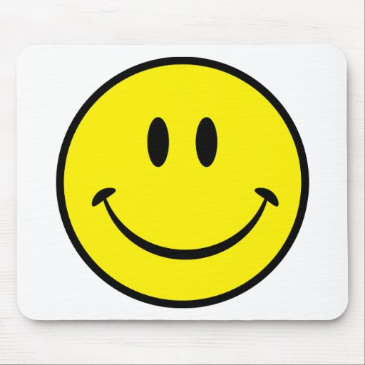 Smiley Happiness Face Mousepads