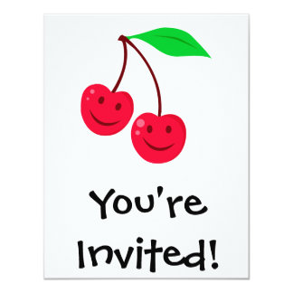 smiley happy face cherries card