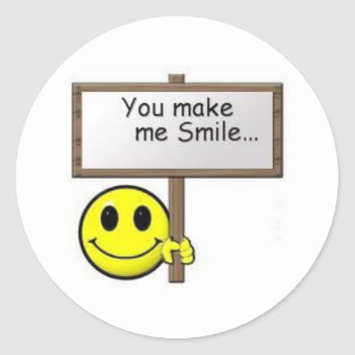 Smiley Happy Face - Customized Classic Round Sticker